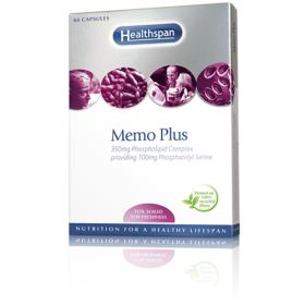 Memo Plus® Capsules - 350mg Phospholipid Complex providing 100mg Phosphatidyl Serine