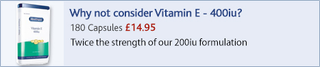 why not consider vitamin E 400iu?
